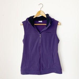Columbia   Purple Hooded Vest   Medium